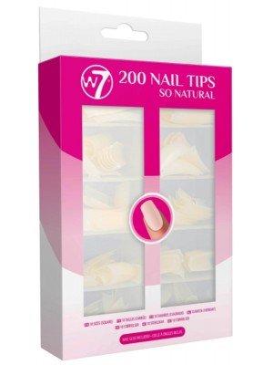 W7 Acrylic Nail Tips - Natural (200pcs)