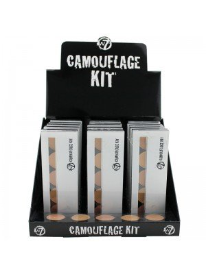 W7 Camouflage Kit Cream Concealer Palette (Tray of 18)