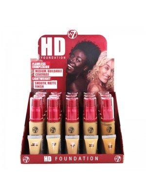 Wholesale W7 High Definition 12 Hour Foundation - Medium Assorted
