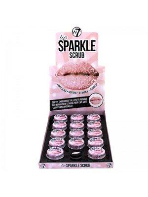 Wholesale W7 Lip Sparkle Scrub With Vitamin E & Jojoba Oil