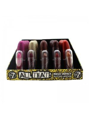 w7 Mega Impact Glitter Lipsticks - 30 Pieces