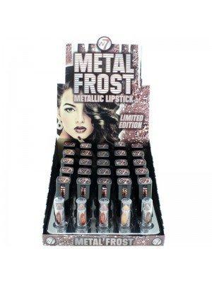 W7 Metal Frost Metallic Lipsticks - Asst. Colours