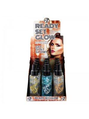 Wholesale W7 Ready Set Glow Illuminating Setting Spray - Assorted