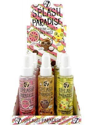 Wholesale W7 Splash of Paradise Prime and Set Face Mist - Assorted