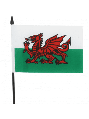 "Wales Hand Flag Small - 6"" x 4"""