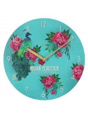 Wall Clock - Oriental Peacock Design