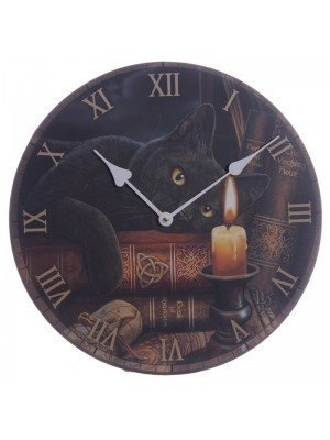 Witching Hour Cat Wall Clock