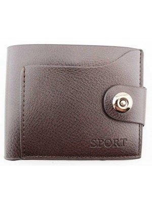 Wholesale Real Collection Sport Leather Men's Wallet - Black (12cm x 10cm)