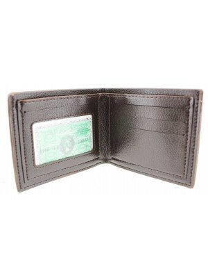 Wholesale Vital Real Leather Men's Wallet - Brown (12cm x 10cm)