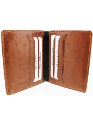 Wholesale Mens RFID Woodbridge Genuine Leather Wallet 6 Card Slots - Black & Brown