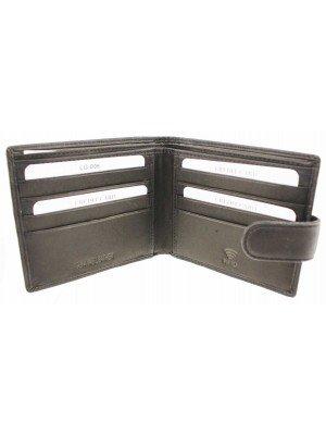 Wholesale Mens RFID Genuine Leather Wallet with 8 Card Slots - Black