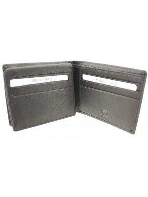 Wholesale Mens RFID Woodbridge Genuine Leather Wallet 9 Card Slots - Black