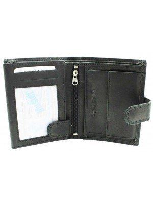 Wholesale Mens RFID Genuine Leather Wallet with 7 Card Slots - Black