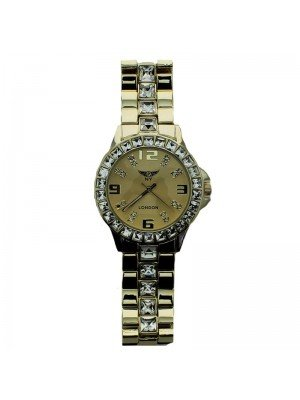 NY London Ladies Diamond Watch - Gold