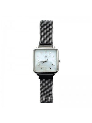 NY London Ladies Mesh Watch - Silver