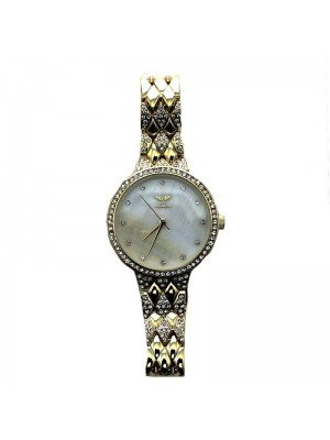 NY London Ladies Small Diamond Watch - Gold