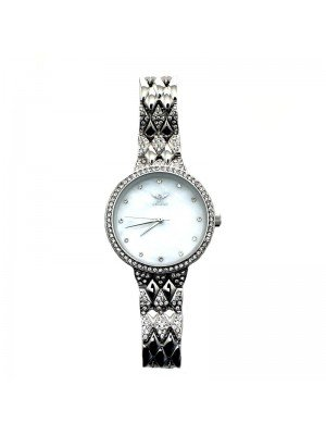 NY London Ladies Small Diamond Watch - Silver