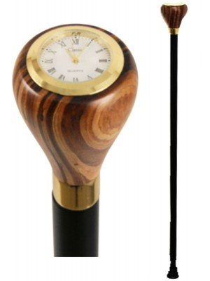 Walking Stick With Classic Quartz Watch Over Handle