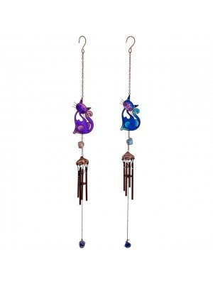 Smiling Cat Windchime Assorted