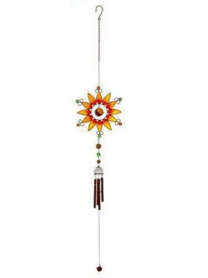 Wholesale Orange Sunflower Windchime-22cm x 22cm x 5cm