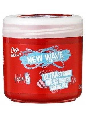 Wella New Wave Ultra Strong Mess Maker Creme Gel - 150ml