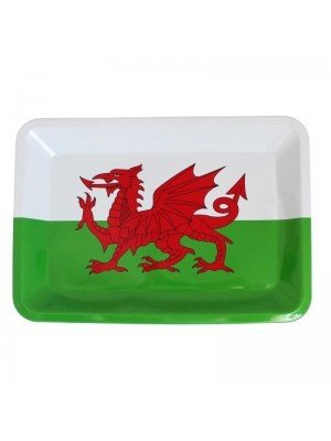 Welsh Dragon Flag Mini Rolling Tray - 12.5 x 18 cm