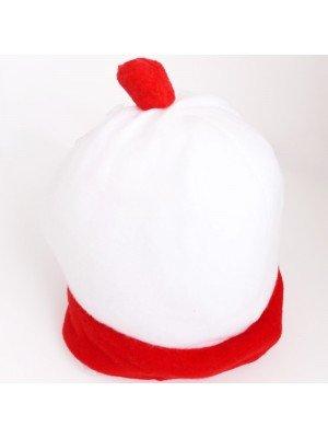 White & Red Wally Pom-Pom Hat