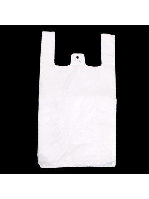 White Vest Carrier Bag - 12'' x 17''