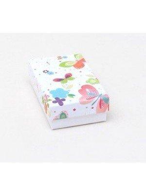 White Base Butterfly Print Lid Gift Box