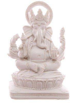 Wholesale White Ganesh Figurine Ornament - 13.5cm