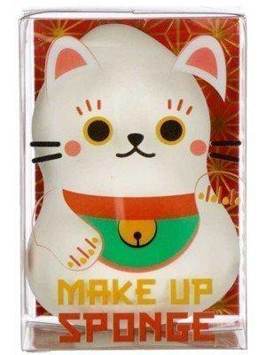 Wholesale Maneki Neko Lucky Cat White Makeup Sponge