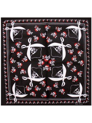 White Swords Pirates Skulls Bandanas
