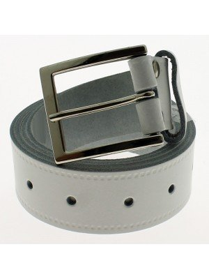 """Men's Leather Belts 1"""" Wide - White (XX Large)"""