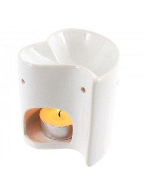 White Heart Ceramic Oil Burner