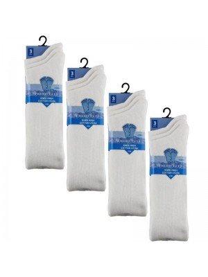 Wholesale White Knee High School Socks - Fresh Feel (3 Pair Pack) - (UK - 12.5-3.5)