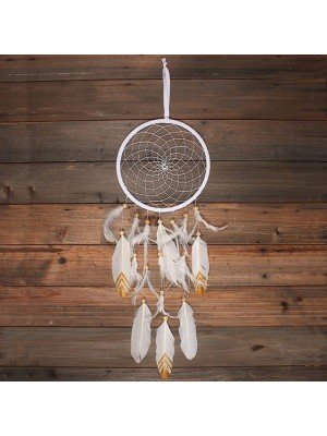 White Suede Dream Catcher - 22cm