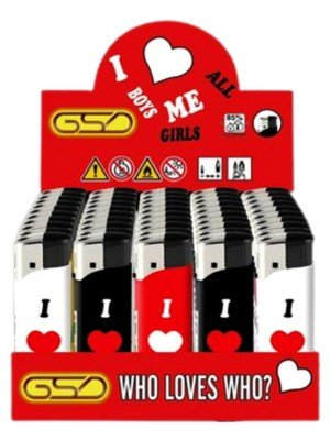 """Wholesale GSD Electronic """"Who Loves Who"""" Design Refillable Lighters"""