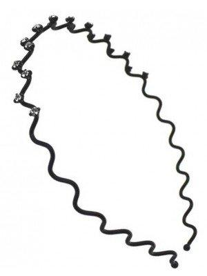 Wholesale Diamante Wave Aliceband (1cm)