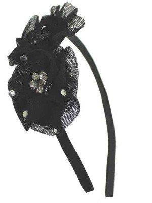 Wholesale Black Metal Net Flower Headband -1cm
