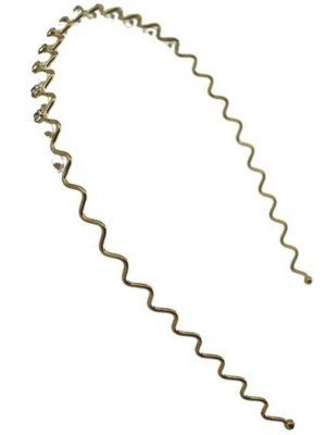 Wholesale Pearl & Diamante Wave Aliceband-1cm