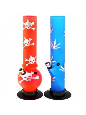 Wholesale Arcylic Bong Assorted Shapes & Colours  - 12.5 Inch