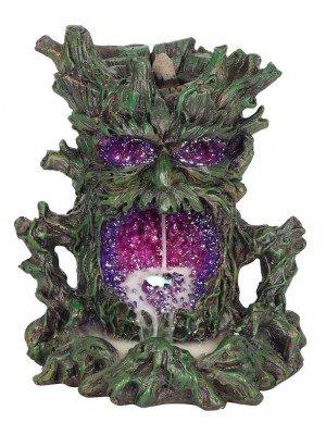 Backflow Incense Burner With Light - Dark Tree Man