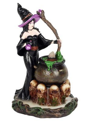Wholesale Backflow Incense Burner-Witch With Cauldron