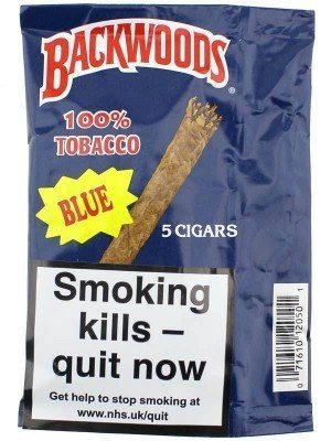 Backwoods Cigars 100% Tobacco - Blue (5 Cigars)