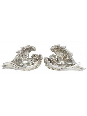 Wholesale Antique Silver Sleeping Cherub Ornament