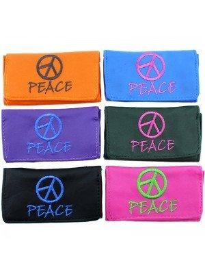 Wholesale Coney Peace Design Pouches - Assorted Colours