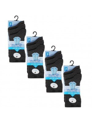 Wholesale Grey Ankle High School Socks - Fresh Feel (UK - 4-7)
