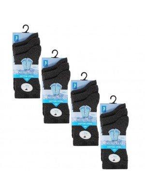 Wholesale Grey Ankle High School Socks - Fresh Feel (UK - 12-3)