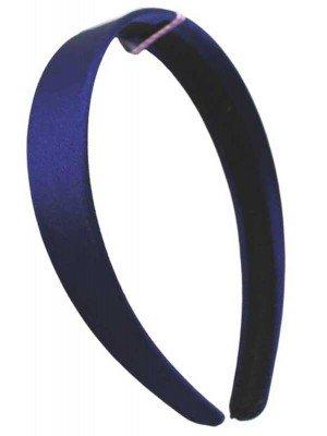 Wholesale 2.5cm Wide Satin Aliceband - Navy