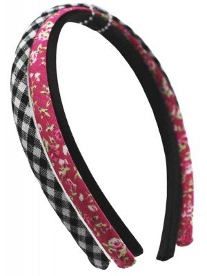 Wholesale Thin Satin Plastic Alice Bands - Assorted Designs